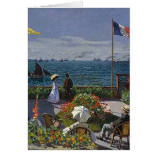 Garden at Sainte-Adresse by Claude Monet Greeting Card