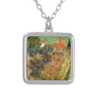 Garden behind a House.  Vincent van Gogh. Jewelry