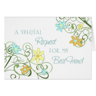 Garden Best Friend Maid of Honor Invitation Card