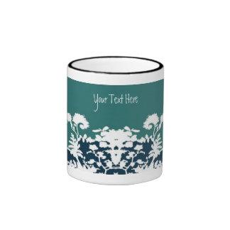 Garden Bloom Mug - Teal, Customize