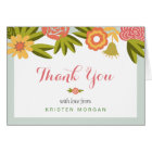 Garden Blooming Modern Floral Thank You Card