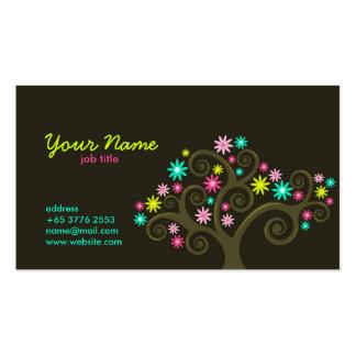 Garden Blooms Profile Card Business Card Templates