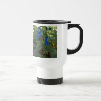 Garden Blue Salvia Sage Mugs