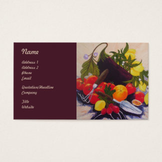 Garden Bounty Vegetables Business Cards