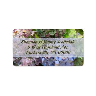 Garden Bouquet Hydrangea Address Sticker