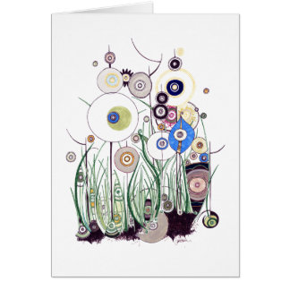 Garden Bramble and Peacock feathers Card