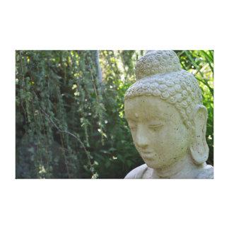 Garden Buddha Stretched Canvas Print