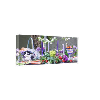 Garden Buffet Photography Art Print Stretched Canvas Prints