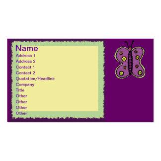 Garden Butterfly business card