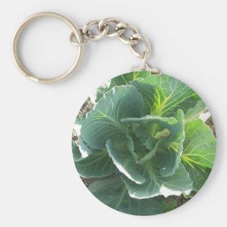 Garden Cabbage Basic Round Button Key Ring