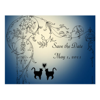 Garden Cats Save the Date Postcard