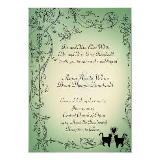 Garden Cats Wedding Invitation