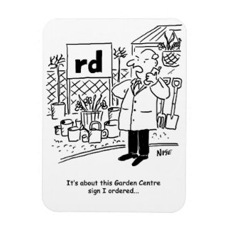 Garden Centre Sign Rectangular Photo Magnet
