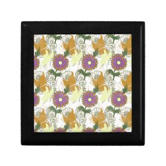 Garden Charm 6: vintage butterfly orange yellow Trinket Boxes