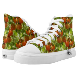 Garden Cherry Tomatoes Nature Pattern High Tops