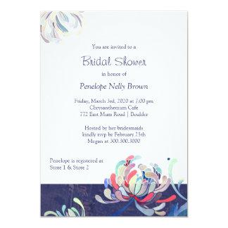 Garden Chrysanthemum Modern Bridal Shower Card