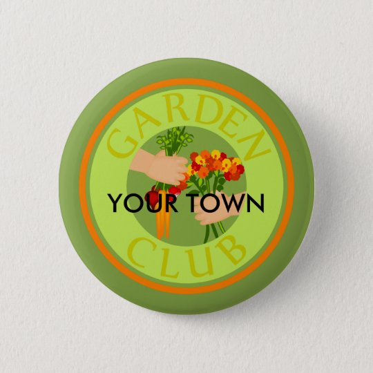 Garden Club Emblem 6 Cm Round Badge
