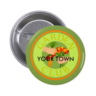 Garden Club Emblem 6 Cm Round Badge
