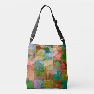 Garden Collage Bold Colors Flower Crossbody Bag