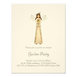 Garden Collection · Angel with Flower 11 Cm X 14 Cm Invitation Card