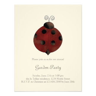 Garden Collection · Ladybug Personalized Announcement