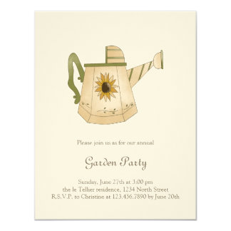 Garden Collection · Watering Can with Sunflower 11 Cm X 14 Cm Invitation Card