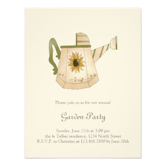 Garden Collection · Watering Can with Sunflower Personalized Invites