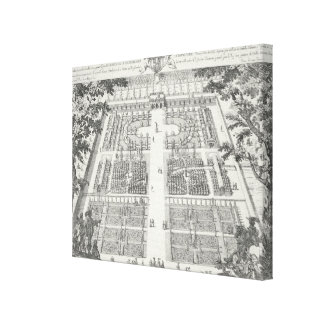 Garden design from 'The Gardens of Wilton', c.1645 Stretched Canvas Prints