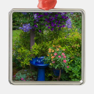 Garden designs in our Garden Sammamish, 2 Silver-Colored Square Decoration