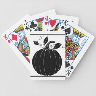"""Garden_Designs_Pumpkin_Black_White"" Bicycle Playing Cards"