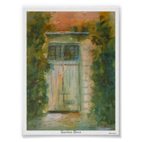Garden Door by Kevin E. Slater Poster