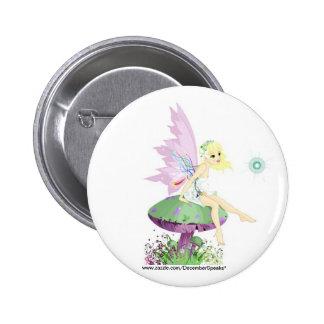 Garden fairy pinback button