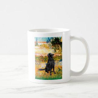 Garden - Flat Coated Retriever Basic White Mug