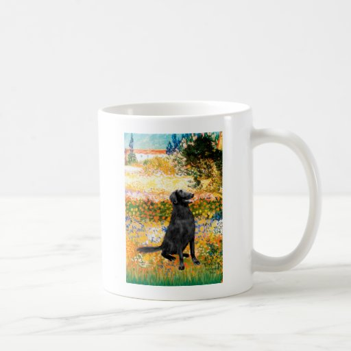 Garden - Flat Coated Retriever Coffee Mugs