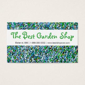 Garden florist shop business card mosaic pattern
