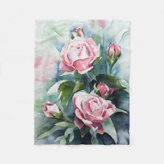 Garden Flower Fleece Blanket