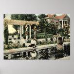 Garden Flower Scene, Los Angeles 1914 Vintage Poster