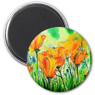 Garden Flowers 6 Cm Round Magnet