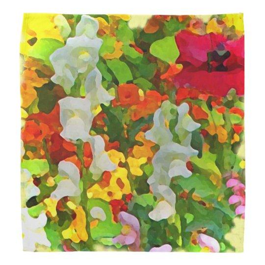 Garden Flowers Abstract Bandana