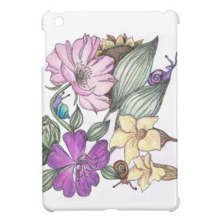 garden flowers and snails ipad-air case case for the iPad mini