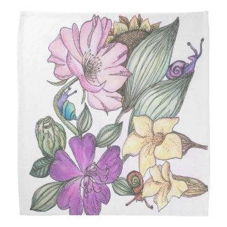 garden flowers bandanna