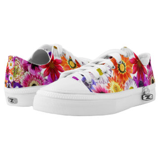 Garden Flowers Zipz Women's Sneakers/Shoes USA Low Tops