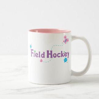 Garden Flutter Field Hockey Two-Tone Coffee Mug