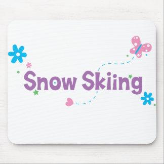 Garden Flutter Snow Skiing Mousepads