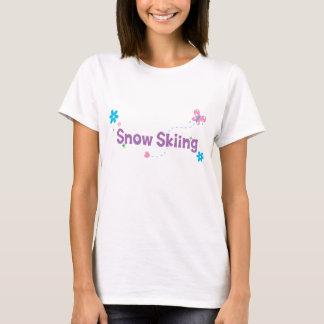 Garden Flutter Snow Skiing T-Shirt