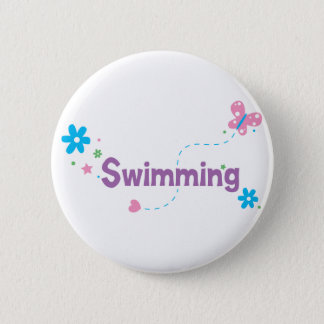 Garden Flutter Swimming 6 Cm Round Badge