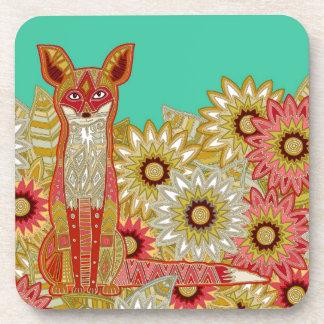 garden fox jade coaster