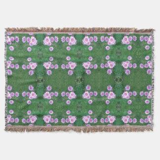 Garden Fractal Dapple 1 with large photo Throw Blanket
