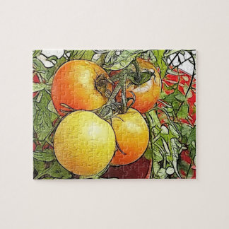 Garden Fresh Heirloom Tomatoes Jigsaw Puzzle