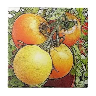 Garden Fresh Heirloom Tomatoes Tile